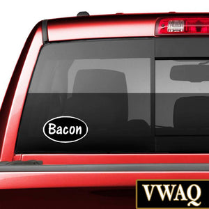 Bacon Window Decal - VWAQ Vinyl Wall Art Quotes and Prints