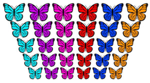 Assorted Colors Peel and Stick Butterfly Wall Decals - VWAQ Vinyl Wall Art Quotes and Prints