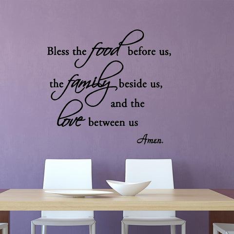 VWAQ Bless the Food Before Us, the Family Beside Us Wall Quotes Decal - VWAQ Vinyl Wall Art Quotes and Prints