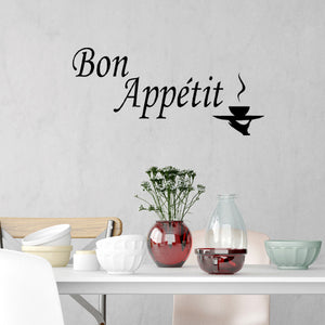 VWAQ Bon Appétit Wall Quotes Decal Cooking Quotes - VWAQ Vinyl Wall Art Quotes and Prints