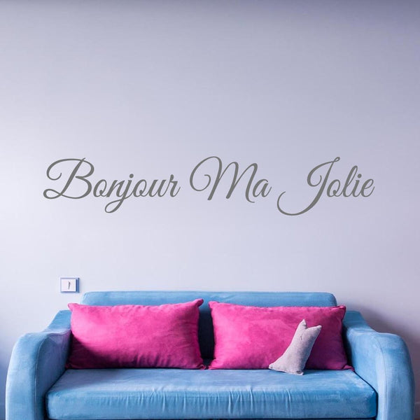 VWAQ Hello Beautiful in French Bonjour Ma Jolie Wall Quotes Decal - VWAQ Vinyl Wall Art Quotes and Prints