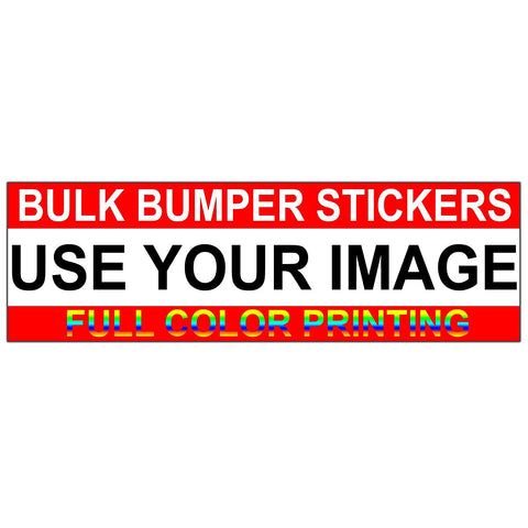 VWAQ Custom Bumper Stickers Bulk Order Bumper Sticker Pack, Upload Your Image - VWAQ Vinyl Wall Art Quotes and Prints