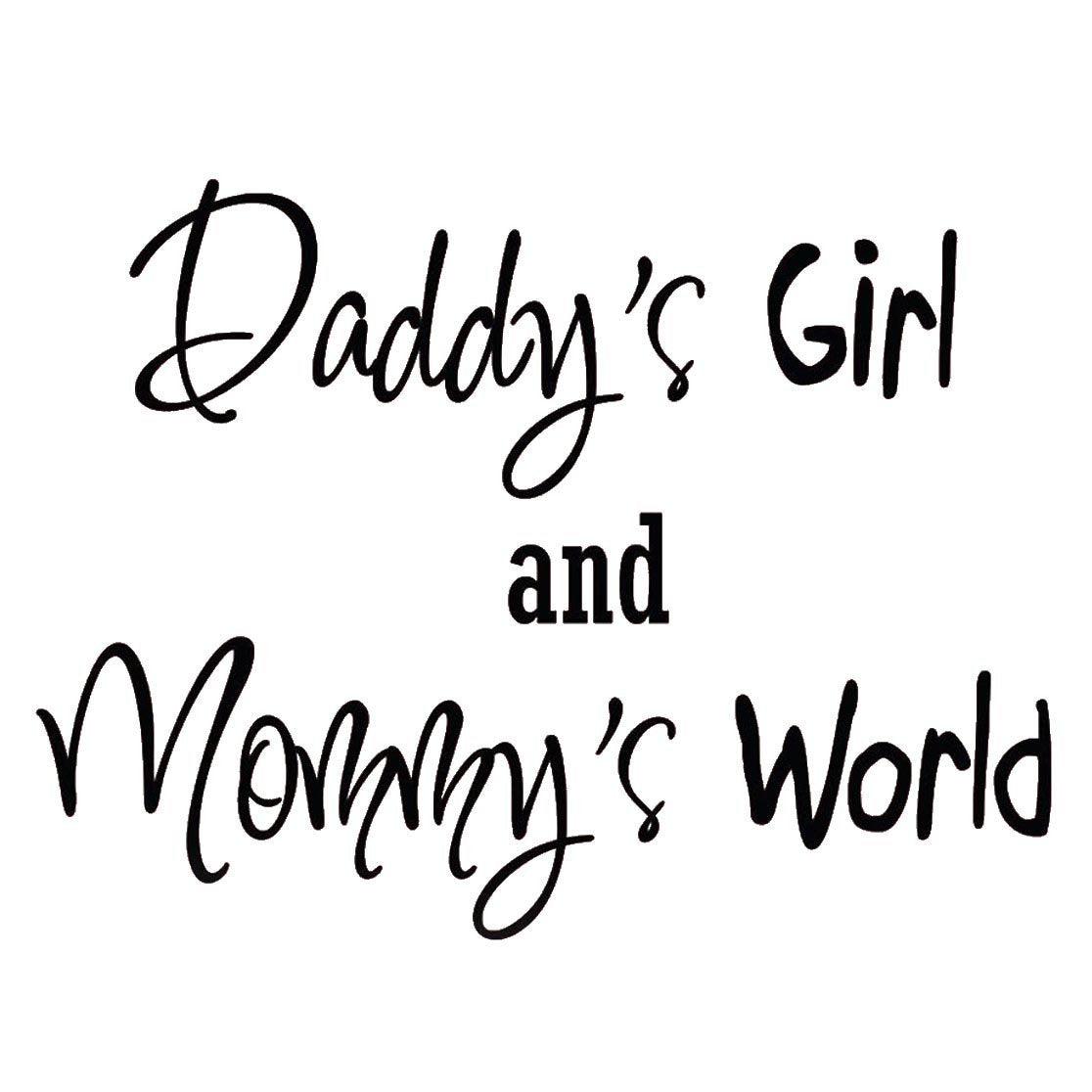VWAQ Daddy\'s Girl and Mommy\'s World, Nursery Wall Quotes Decals