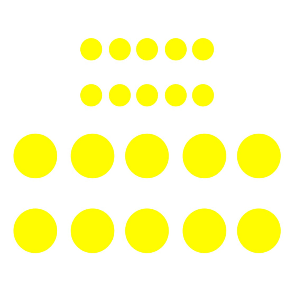 Polka Dots Wall Decals 20 Pack Big Peel & Stick Assorted Multi-Sizes ...