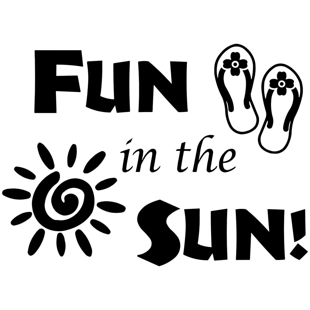 Vwaq Fun In The Sun Sticker Fun Wall Decals Quotes Sun Vinyl Wall