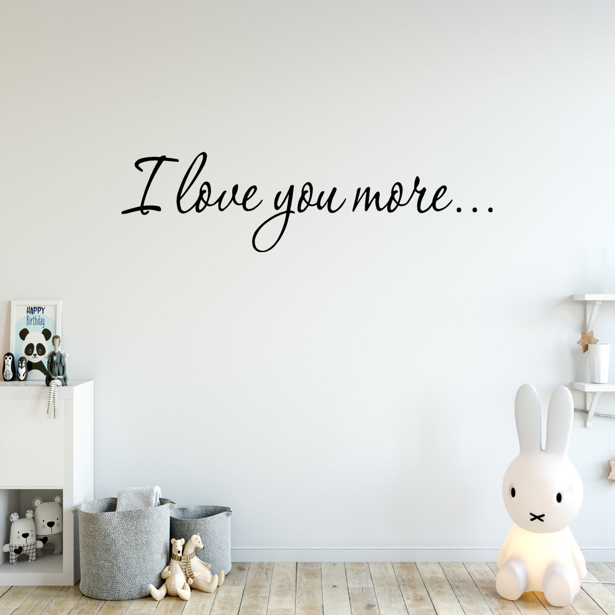 VWAQ I Love You More Vinyl Wall Decal Love Wall Quotes - VWAQ Vinyl Wall Art Quotes and Prints