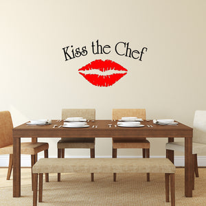 VWAQ Kiss the Chef Vinyl Wall Art Decal - VWAQ Vinyl Wall Art Quotes and Prints