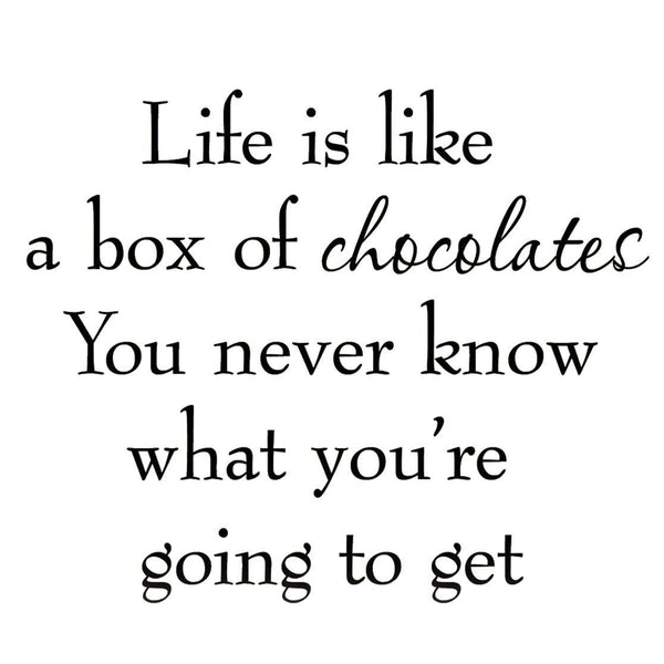 VWAQ Life is Like a Box of Chocolates Wall Decal - VWAQ Vinyl Wall Art Quotes and Prints no background