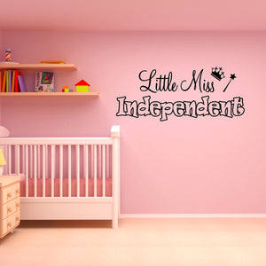 VWAQ Little Miss Independent Vinyl Wall Decal