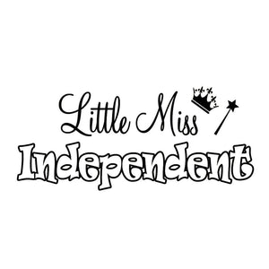 VWAQ Little Miss Independent Vinyl Wall Decal - VWAQ Vinyl Wall Art Quotes and Prints