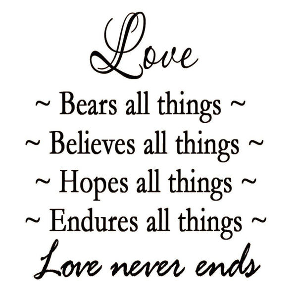 VWAQ Love Bears All Things Vinyl Wall Decal - VWAQ Vinyl Wall Art Quotes and Prints no background