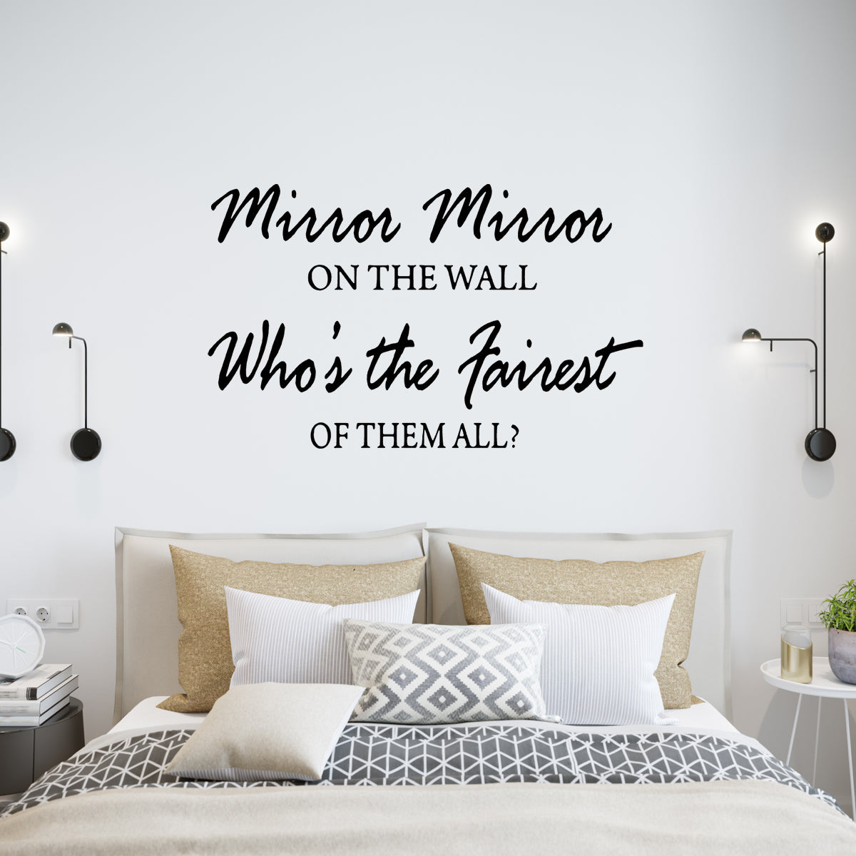 VWAQ Mirror Mirror on the Wall Who's the Fairest of them All Wall Decal - VWAQ Vinyl Wall Art Quotes and Prints