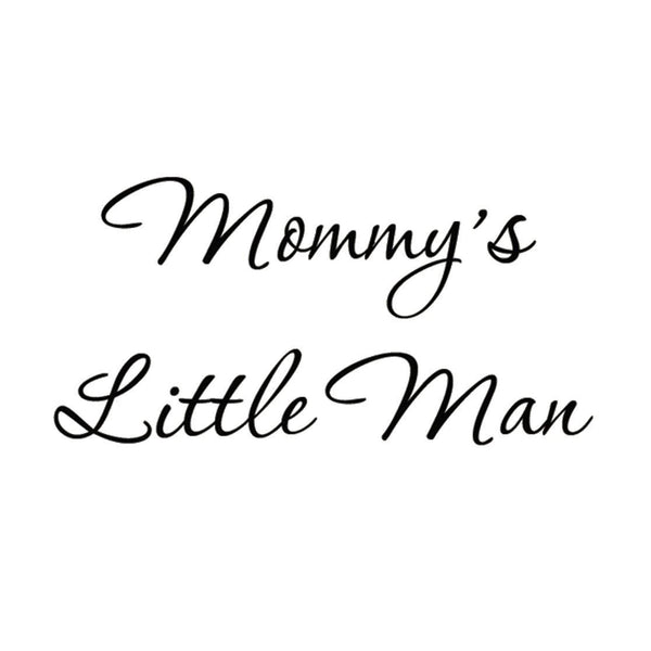 VWAQ Mommy's Little Man Vinyl Wall Decal - VWAQ Vinyl Wall Art Quotes and Prints no background