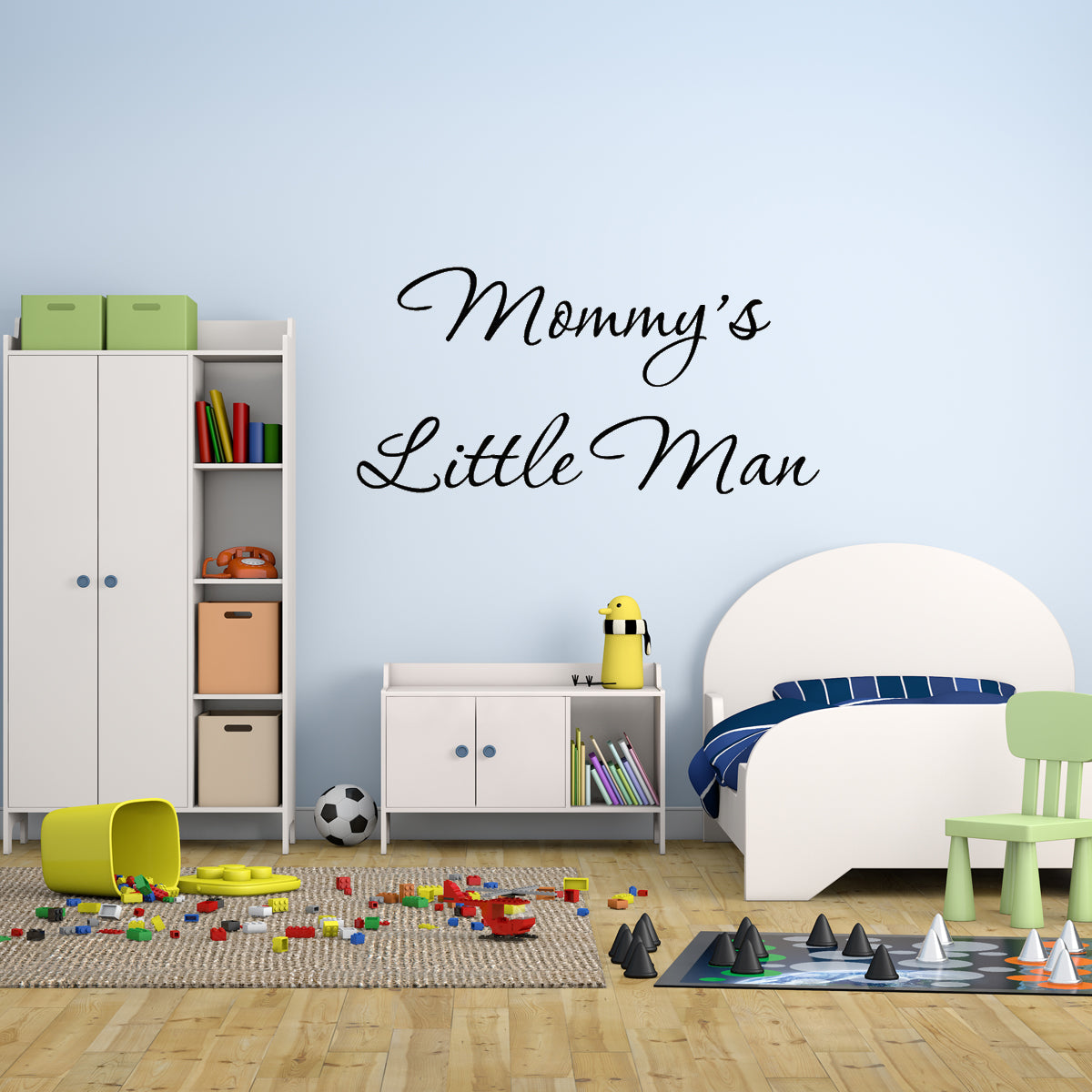 VWAQ Mommy's Little Man Vinyl Wall Decal