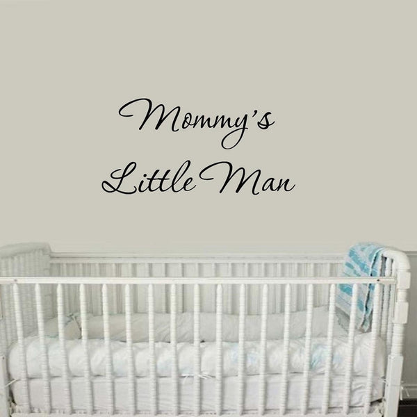 VWAQ Mommy's Little Man Vinyl Wall Decal - VWAQ Vinyl Wall Art Quotes and Prints
