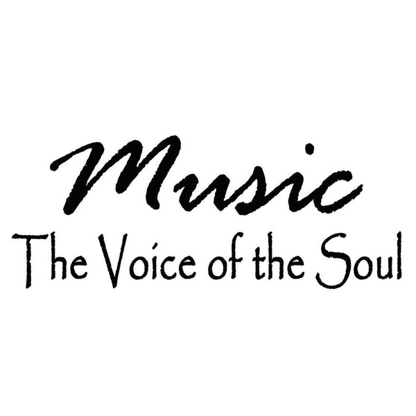 VWAQ Music Is The Voice of the Soul Vinyl Wall Decal - VWAQ Vinyl Wall Art Quotes and Prints no background