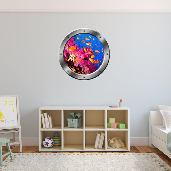 VWAQ Underwater Ocean View Porthole Peel and Stick Vinyl Wall Decal - PO24 - VWAQ Vinyl Wall Art Quotes and Prints