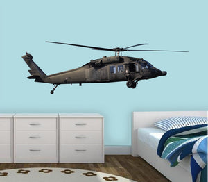 VWAQ Military Helicopter Wall Decal Aviation Decor Blackhawk Helicopter Sticker - VWAQ Vinyl Wall Art Quotes and Prints