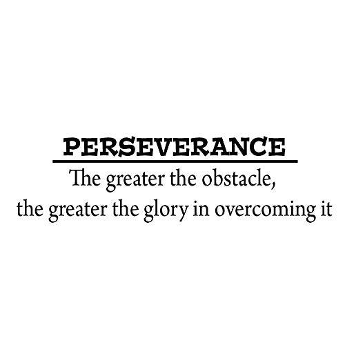 VWAQ Perseverance ~ The Greater The Obstacle, The Greater The Glory Wall Decal - VWAQ Vinyl Wall Art Quotes and Prints no background