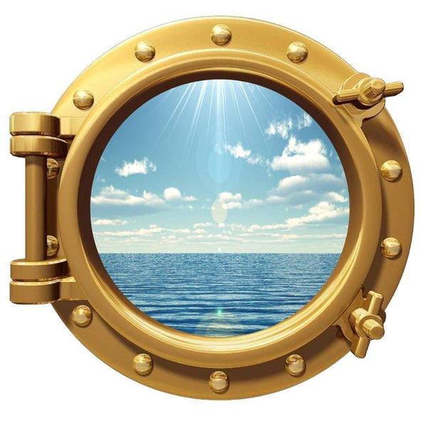 VWAQ Peel and Stick Sea Cruise Window Porthole Vinyl Wall Decal - VWAQ Vinyl Wall Art Quotes and Prints no background