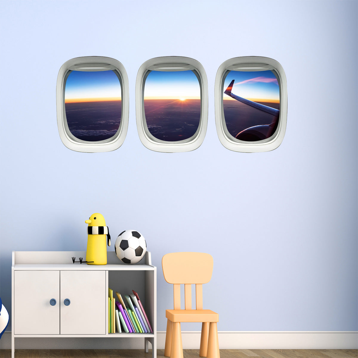 VWAQ Aviation Wall Decal, Airplane Wing Stickers - Aircraft Wall Art Decor -PPW39 - VWAQ Vinyl Wall Art Quotes and Prints