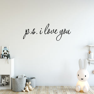 VWAQ PS I Love You Cute Vinyl Wall art Decal