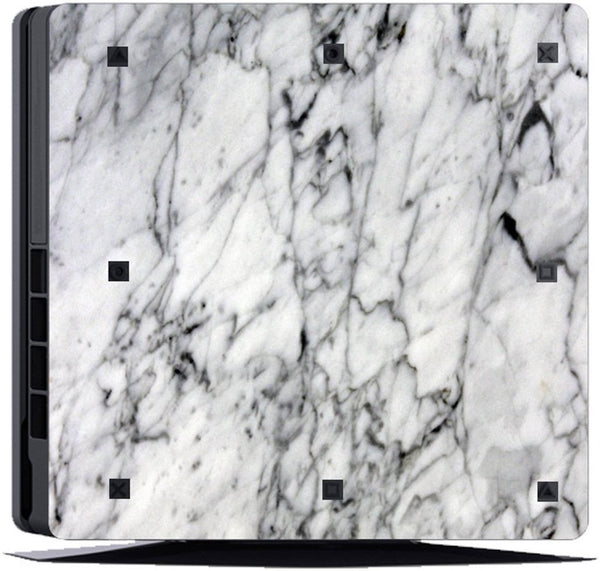VWAQ Marble Skin PS4 Slim Game Console and Constroller Skins Playstation 4 Slim Cover Skins - PSGC7 no background