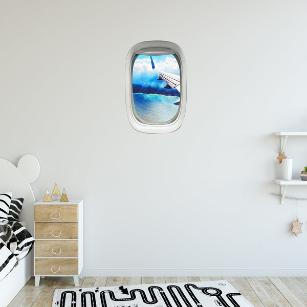 VWAQ Peel and Stick Airplane Window Wing View Vinyl Wall Decal - PW22 - VWAQ Vinyl Wall Art Quotes and Prints