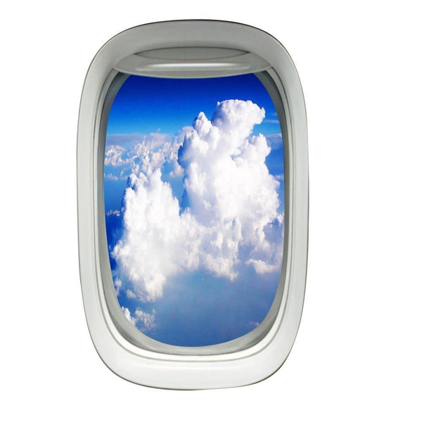Airplane Window Cloud View Peel and Stick Vinyl Wall Decal - PW26 - VWAQ Vinyl Wall Art Quotes and Prints