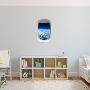 Airplane Window Atmosphere View Peel and Stick Vinyl Wall Decal - PW6 - VWAQ Vinyl Wall Art Quotes and Prints