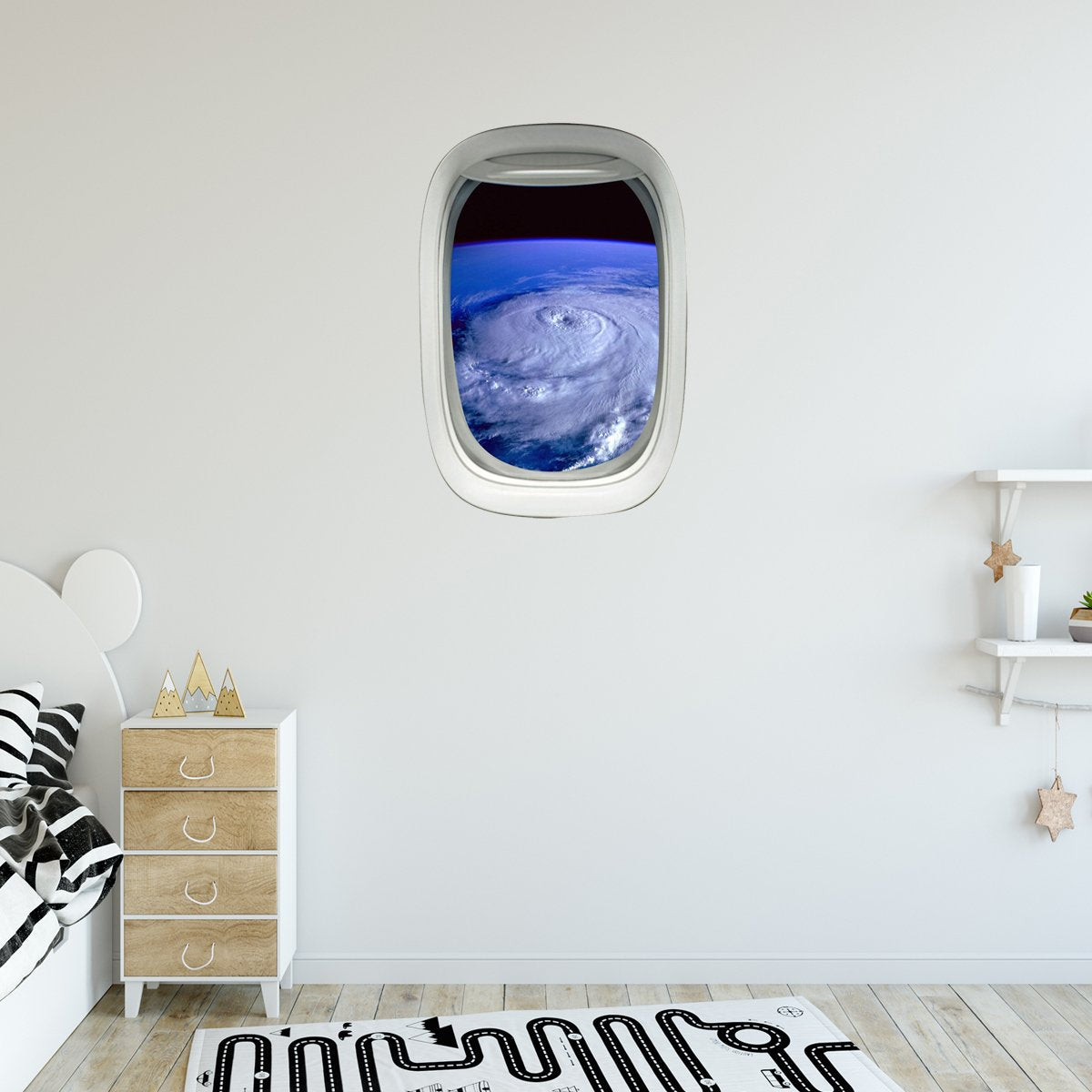 VWAQ Aerial Hurricane View Peel and Stick Vinyl Wall Decal - PW9 - VWAQ Vinyl Wall Art Quotes and Prints