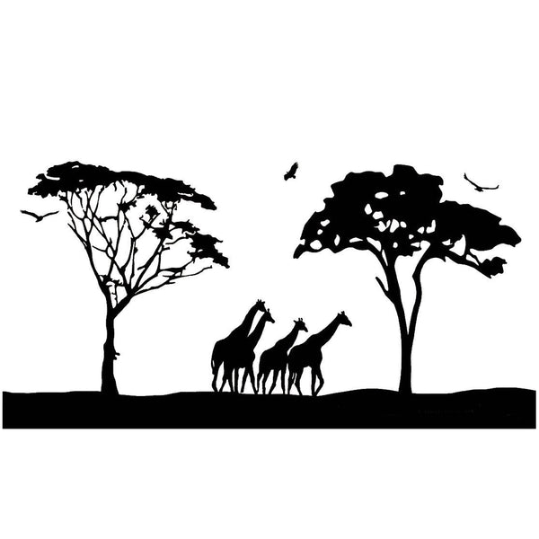 VWAQ Jumbo Safari Vinyl Wall Art Decal no background