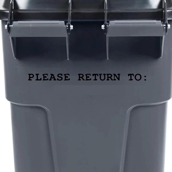 VWAQ Custom Garbage Can Decal Street - Please Return to - Personalized Home Address Trash Can Sticker - TC10 - VWAQ Vinyl Wall Art Quotes and Prints