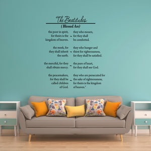 VWAQ The Beatitudes Full Version Bible Vinyl Wall art Decal - VWAQ Vinyl Wall Art Quotes and Prints