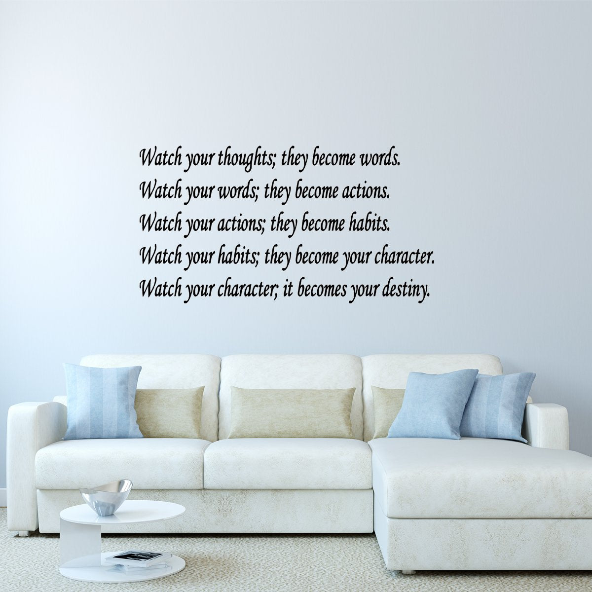 VWAQ Watch Your Thoughts They Become Words Wall Decal
