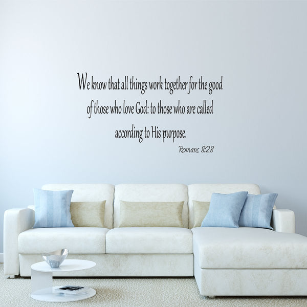 VWAQ We Know that All Things Work Together Wall Decal