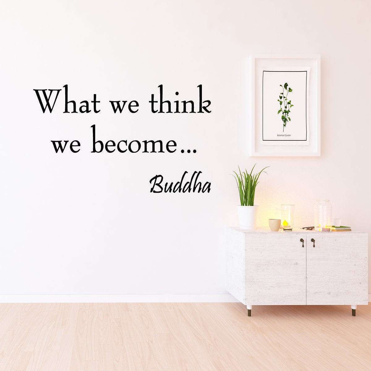VWAQ What We Think We Become Buddha Vinyl Wall Decal