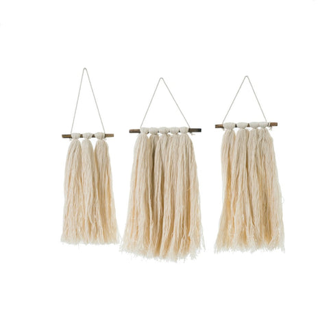 Mini Macrame Wall Hangings-Set of 3