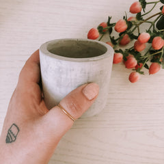 Mini Cement Pot-Round