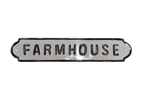 "Metal ""Farmhouse"" Sign"