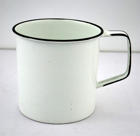Enamel Metal Camp Mug - White