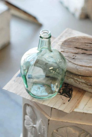 Blush Blue Glass Bottle