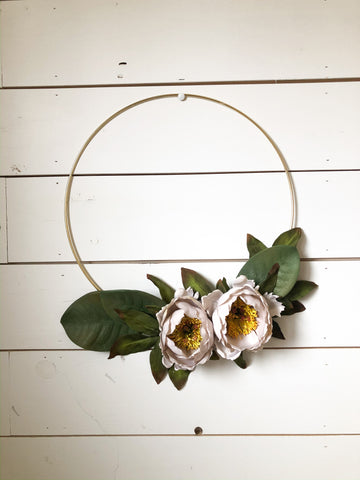 Sunwashed Succulent + Sunflower Mini Wreath