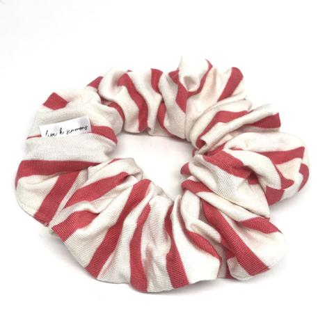 Lisa K Simmons-The Modern Scrunchie-Coral Stripe