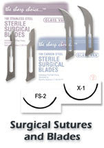 Surgical Blades, Stainless Steel, 100/bx (Many sizes - see drop down for sizes & pricing)