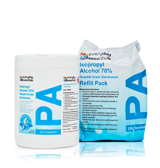 Isopropyl Alcohol Wipes Refill Pack