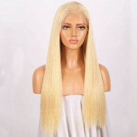 GLUELESS WHITE BLONDE 613 MONA LISA STRAIGHT WIG