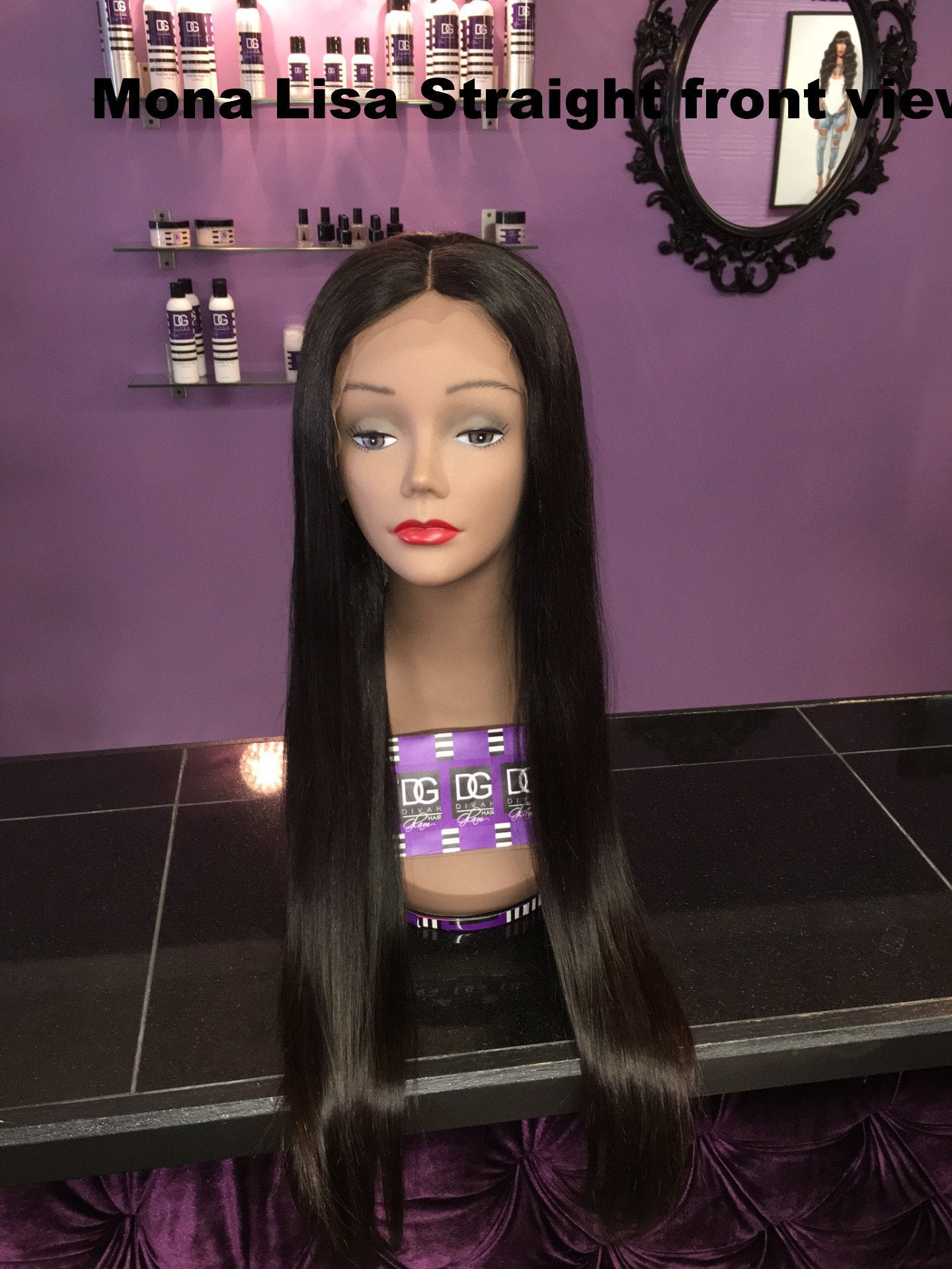 GLUELESS PERUVIAN MONA LISA STRAIGHT FULL LACE WIG
