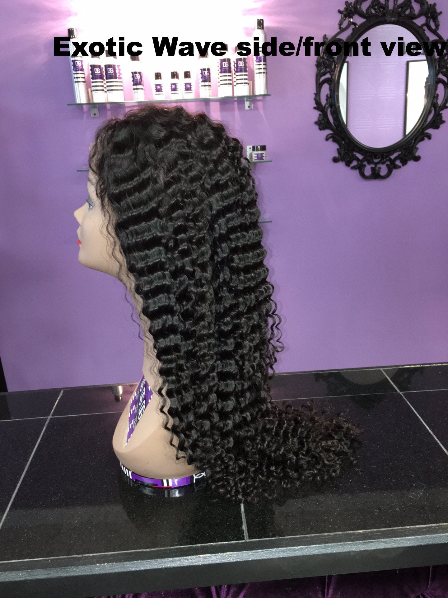 GLUELESS PERUVIAN EXOTIC WAVE FULL LACE WIG