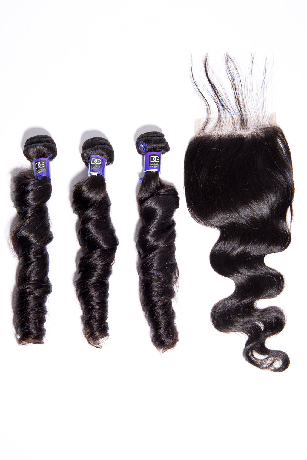 """GLAM COLLECTION"" 3 BUNDLES +FREE CLOSURE"